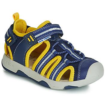 Zapatos Niño Sandalias Geox B SANDAL MULTY BOY Azul / Amarillo
