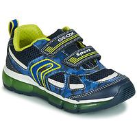 Zapatos Niño Zapatillas bajas Geox J ANDROID BOY Marino / Amarillo / Led