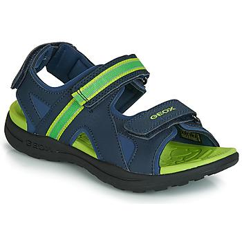 Zapatos Niño Sandalias de deporte Geox J GLEEFUL BOY Azul / Amarillo