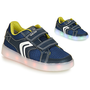 Zapatos Niño Zapatillas bajas Geox J KOMMODOR BOY Azul / Led