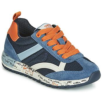 c0c9680f299 Zapatos Niño Zapatillas bajas Geox J ALBEN BOY Marino   Naranja