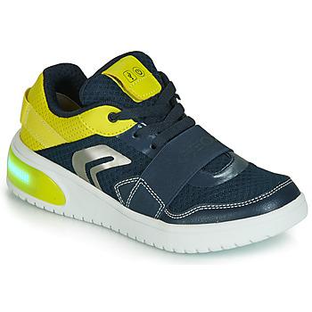 Zapatos Niño Zapatillas bajas Geox J XLED BOY Azul / Amarillo / Led