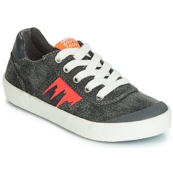 Zapatos Niño Zapatillas bajas Geox J KILWI BOY Gris / Naranja