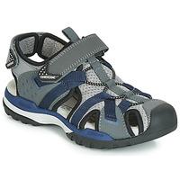 Zapatos Niño Sandalias de deporte Geox J BOREALIS BOY Gris / Marino