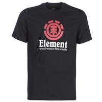 textil Hombre camisetas manga corta Element VERTICAL SS Negro