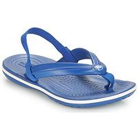Zapatos Niños Chanclas Crocs CROCBAND STRAP FLIP K Azul
