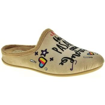 Zapatos Mujer Pantuflas Calzamur 1199 Beige