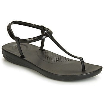 Zapatos Mujer Chanclas FitFlop IQUSHION SPLASH - PEARLISED Negro