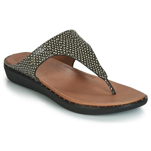 Zapatos Mujer Sandalias FitFlop BANDA II DOTTED-SNAKE Natural / Snake