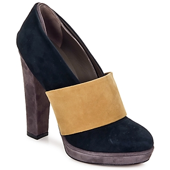 Zapatos Mujer Zapatos de tacón Kallisté BOTTINE 5854 Gris-mostaza