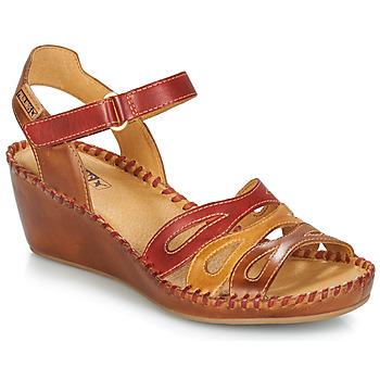 Zapatos Mujer Sandalias Pikolinos MARGARITA 943 Rojo / Marrón