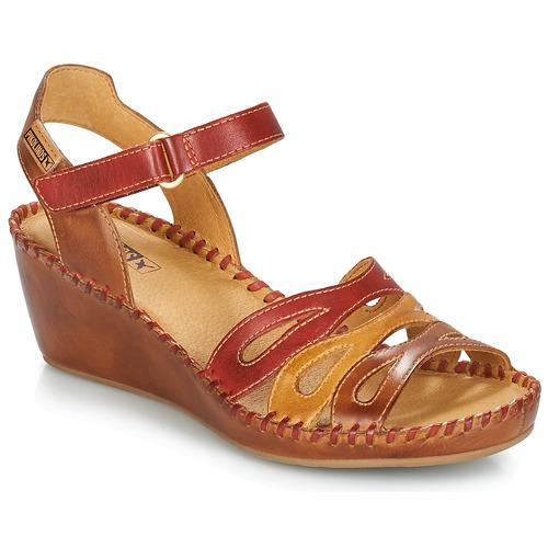 Zapatos RojoMarrón Sandalias Mujer 943 Margarita Pikolinos CxQBedorW
