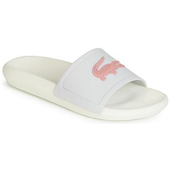 Zapatos Mujer Chanclas Lacoste CROCO SLIDE 119 3 Blanco / Rosa