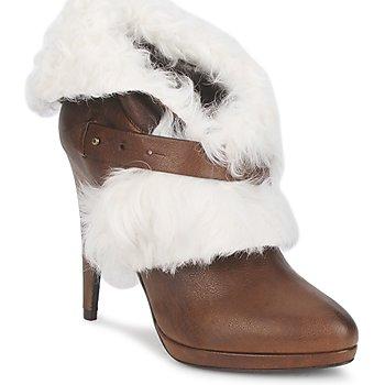 Zapatos Mujer Botines Roberto Cavalli QPS586-PJ027 Marrón / Blanco