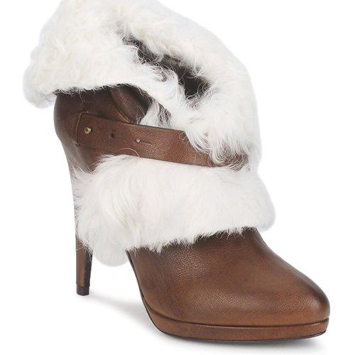 Recortes de precios estacionales, beneficios de descuento Roberto Cavalli QPS586-PJ027 Marrón / Blanco - Envío gratis Nueva promoción - Zapatos Botines Mujer  Marrón / Blanco