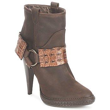 Zapatos Mujer Botines Roberto Cavalli QPS577-PK206 Marrón
