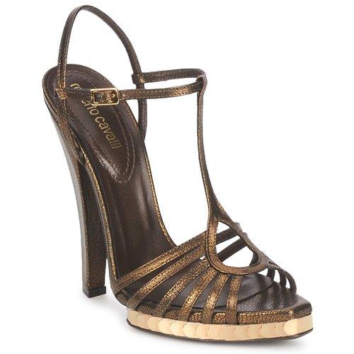 modelo más vendido de la marcaRoberto Cavalli QDS627-PM027 Bronce - Envío gratis Nueva promoción - Zapatos Sandalias Mujer  Bronce