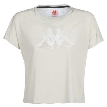 textil Mujer camisetas manga corta Kappa YERRI Beige / Gris
