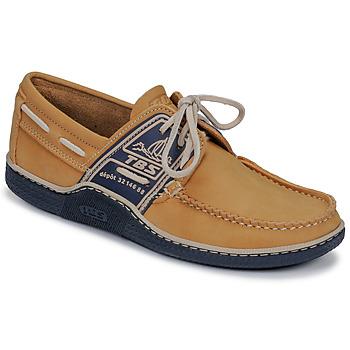 Zapatos Hombre Zapatos náuticos TBS GLOBEK Amarillo / Marino