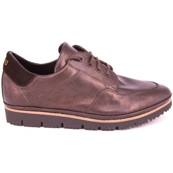 Zapatos Mujer Mocasín Plaju PIEL METALIZADA MARRON MARRON