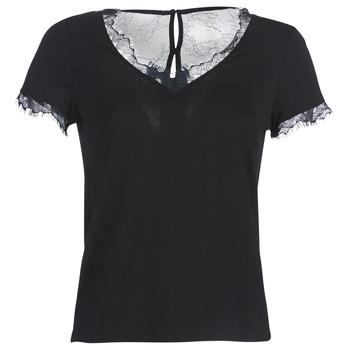 textil Mujer camisetas manga corta Morgan DMINOL Negro