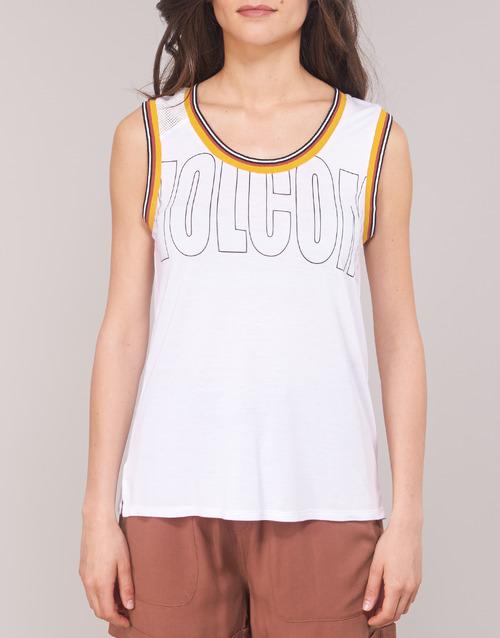 Ivol Sin Camisetas Volcom Blanco Mujer Textil Mangas Tank Qtrsdh