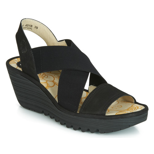 Zapatos Mujer Zapatos de tacón Fly London YAJI Negro
