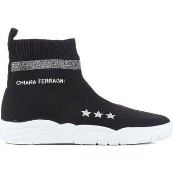Zapatos Mujer Zapatillas altas Chiara Ferragni CF1948 BLACK nero