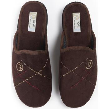 Zapatos Mujer Pantuflas Roal Zapatillas De Casa  859 Marrón Marrón