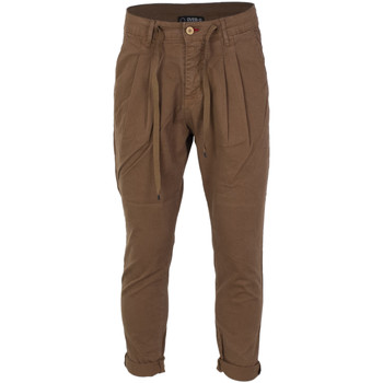 textil Hombre pantalones chinos Over-D OP320 Marrone