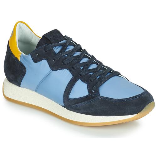 Zapatos Mujer Zapatillas bajas Philippe Model MONACO VINTAGE BASIC Azul / Amarillo
