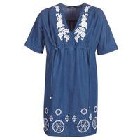 textil Mujer vestidos cortos Desigual ELECTRA Marino