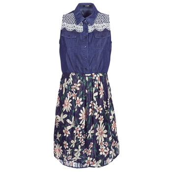 textil Mujer vestidos cortos Desigual ALOHA Marino