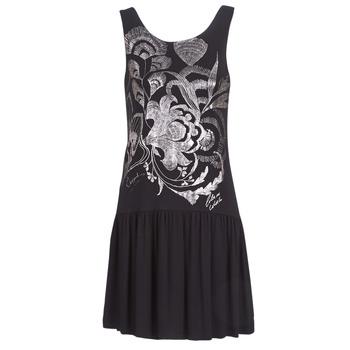 textil Mujer vestidos cortos Desigual OMAHAS Negro