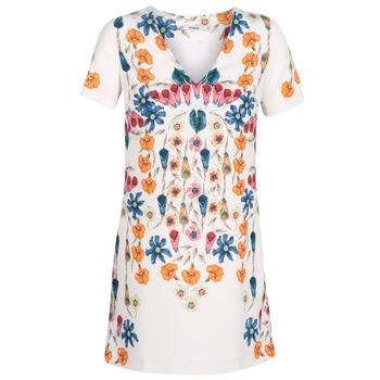 textil Mujer vestidos cortos Desigual CORK Blanco