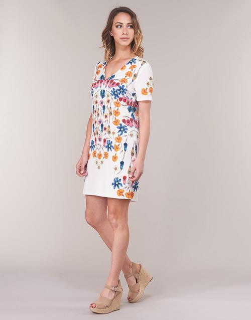 Mujer Vestidos Blanco Desigual Cork Textil Cortos kOPn0w