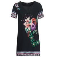 textil Mujer vestidos cortos Desigual BARTA Negro