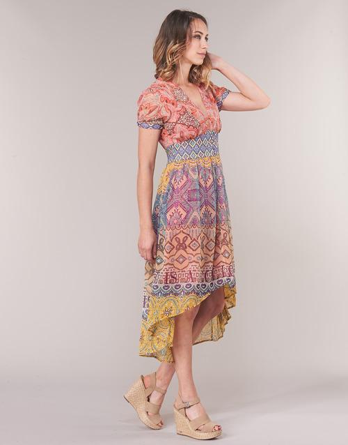 Desigual Nana Largos Vestidos Multicolor Textil Mujer pSzqUMV