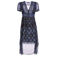 textil Mujer vestidos largos Desigual MINALI Marino