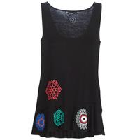 textil Mujer camisetas sin mangas Desigual MELISA Negro