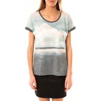 textil Mujer Camisetas manga corta Vero Moda Cloud SS Top 10096122 Gris Azul