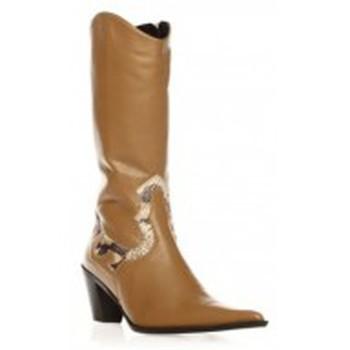 Zapatos Mujer Botas urbanas Ilario Ferucci Bottes Belem Beige Beige