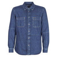textil Hombre camisas manga larga Diesel D FRED Azul