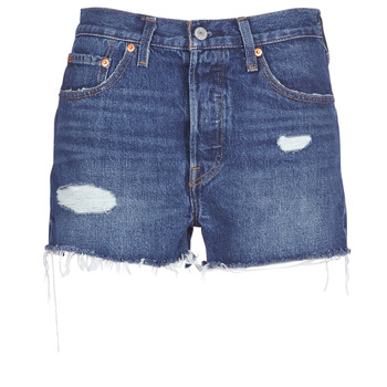 textil Mujer Shorts / Bermudas Levi's 502 HIGH RISE SHORT Azul / Medium