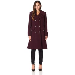 textil Mujer Abrigos De La Creme Abrigo de invierno de lana de cachemira militar Red