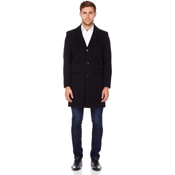textil Hombre Abrigos De La Creme Abrigo de invierno de lana de cachemira Black