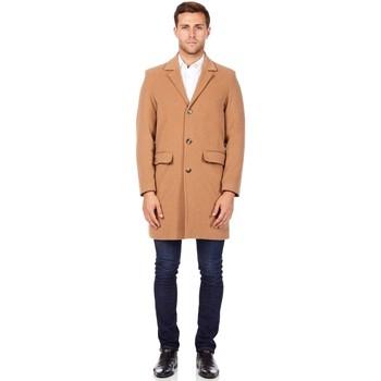 textil Hombre Abrigos De La Creme Abrigo de invierno de lana de cachemira BEIGE