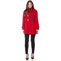 textil Mujer Abrigos De La Creme - Abrigo de invierno con cierre de cremallera y capucha de lana Red