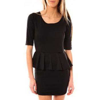 textil Mujer Vestidos cortos Tcqb Robe Moda Fashion Noir Negro