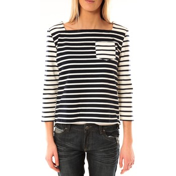 textil Mujer Camisetas manga larga Petit Bateau Marinière 3434049220 Bleu/Blanc Azul